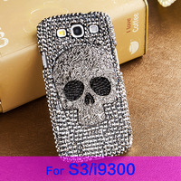 New 2014 Phone cases for SAMSUNG Galaxy S3/i9300,Luxury Skull rhinestone phone cases, cases for phones,carry case free shipping