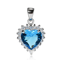 GND0732 Romantic Gifts for Women Fashion 925 Sterling silver CZ Pendant 22.8*13.7*7.2mm Free shipping Titanic Ocean Heart Charms