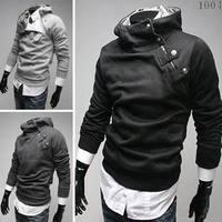 2014Hot Selling High Collar Coat,Men's rabbit fur oblique zipper royal oblique buckle,Men's outerwear Color:5 Colors Size:M-XXXL
