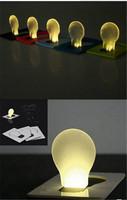 20pcs/lot Portable Pocket LED Card Light Lamp & Mini LED Credit Card Light & Gift Light Free Shipping