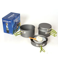Outdoor Tableware  Camping Cookware  2-3 people  multifunctional portable outdoor cookware DS-301