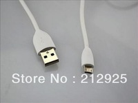 Free Shipping by DHL Wholesale 1000pcs/lot For HTC one X phone white/black Micro 5P Data USB Cable Copper PU