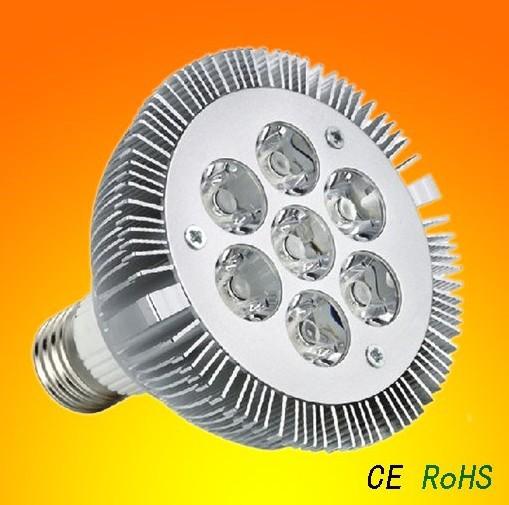 LED Par30 7W Spotlight Par 30 Bulb Light E27 Indooor high power Lamp Warm|Cold white 85V-265V CE&FCC by Express 10pcs/lot(China (Mainland))