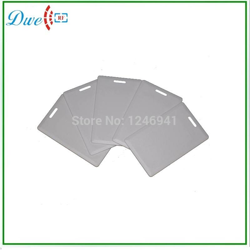 Free shipping 100pcs/lot 125khz RFID 125KHz Writable Rewrite T5577 PVC clamshell card Proximity Access control card(China (Mainland))