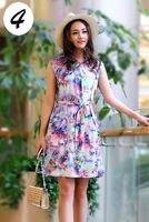 2014 women girls dress beach dress knee-length sleeveless casual dress 16 colors fashion best selling dress L XL XXL XXXL XXXXL