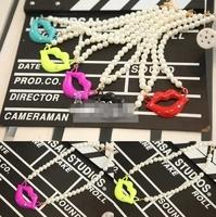 Summer children's clothing manufacturers, new children's lips pendant chains