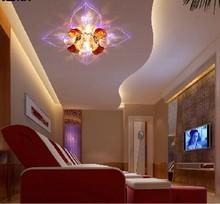 Free shipping 5W Led crystal lamp aisle lights corridor lights modern brief romantic acrylic ceiling light lamps(China (Mainland))