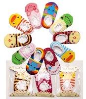 5pairs/lot retail Baby girls boy's socks Walking rubber slip-resistant Cartoon cotton Floor Socks Outdoor faux Shoes 0-2year