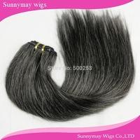New arrival #51 Grey color straight Malaysian virgin hair weft human hair bundles