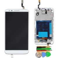 New Original For LG Optimus G2  LS980 VS980 Full LCD Display Touch Screen Digitizer Assembly +Frame  Replacement Parts White