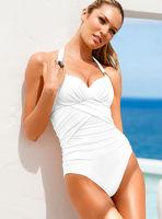 Chinese Size S/M/L one piece crisscross vitoria swimwear women secret swimsuit vintage beach clothes - VS 46