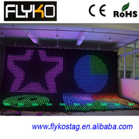 flexible led stage video curtain wall screen