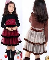 Children's clothing female child spring 2014 child one-piece dress princess dress lace gauze hot-selling