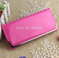 2014 woman long wallet  PU fashion wallet cheap wallets women wallets candy colored light leather wallet