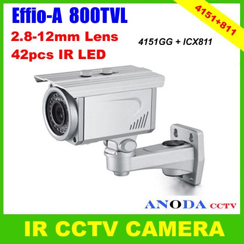 "1/3"" Sony Effio-A HD 800TVL OSD Menu 2.8-12mm Lens 40M IR Distance Weatherproof Outdoor Surveillance Video CCTV Camera(China (Mainland))"
