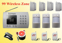 99 Wireless Defense Zone Home Security Burglar Alarm System Auto-Dialer Security System H2198
