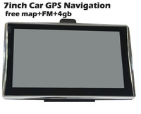 7 inch car gps navigation TFT touch screen 4gb GPS Navigator with Bluetooth AV-IN fm mp3,video player,wince6.0