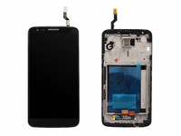 Black Original For LG Optimus G2 D802 Full LCD Display Touch Screen Digitizer Assembly with Frame