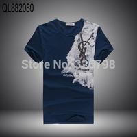Men's classic 2014 letters cotton short sleeve T-shirt