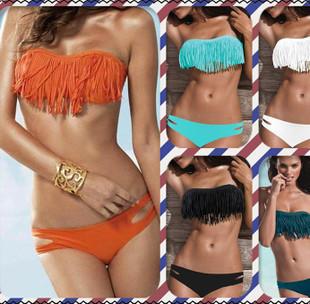 ... bathing suit fringed bikini small chest big breasted women bikini