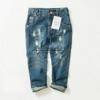 2015 Fashion Jean Pants Girls Demin Pants Broken Hole Rock Jeans Pants Girls Wear Chirldren Clothes Kids Clothing