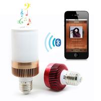 Cute iClover Wireless E27 LED Light Lamp Bluetooth Audio Speaker Loulderspeaker Music Playing Lighting Bulb