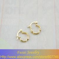 IZI02298 18K Gold Filled bone earrings 3pcs/lot