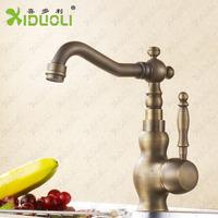 Kitchen Faucet Antique Brass Swivel Bathroom Basin Sink Mixer Tap Crane XDL-12108