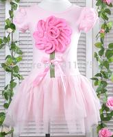 retail girls summer flower  dress children  girl kids lovely clothing tutu  dresses