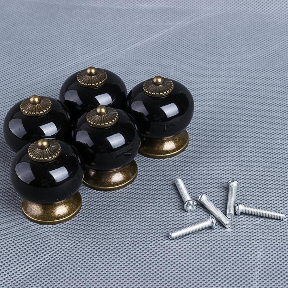 5 cores para escolher 10 cerâmica alça porta de armário pull puxadores g