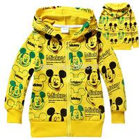 Free Shipping Hot 6pcs/lot Kids girls Mickey hoodies coat baby kids girls Mickey sweatshirts outerwear clothing autumn wholesale