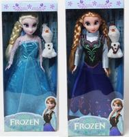 2014 Frozen Girls Dolls 11 inches Frozen Queen Elsa Princess Anna Doll Platic Doll Frozen dolls - With Box set of 2pcs