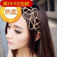 Fashion normic  fashion cutout knitted gold female hair accessory headband hair band