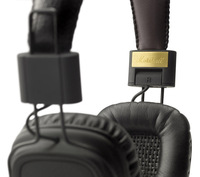 2013 fashion 1pcs Marshall Major black With Microphone On-Ear Pro Stereo Music Headphones Free Shipping