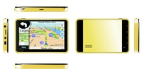 Promotion Cheap Deluxe gold 7 inch HD 5th car GPS car navigation gps navigator FM 4GB without bluetooth avin