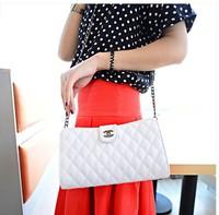 Hot Women's handbag plaid chain women's handbag shoulder bag Quilted chain shoulder bag women bag