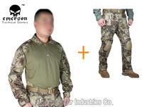 Kryptek Mandrake Emerson bdu G3 uniform shirt & Pants with knee pads Emerson BDU airsoft waregame uniform MR