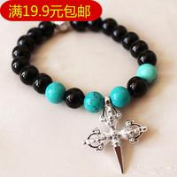Nunatak flower beaded cross bracelet general