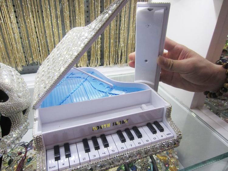 Diamond piano telephone / shipping / Crystal luxury home landline / storage piano style phone ringtones(China (Mainland))