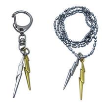 2PCSBrand New Harry Potter Lightning bolt Necklace Golden+Silver Metal Necklace(China (Mainland))