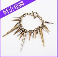 Fashion popular vintage gothic punk metal rivet bullet taper female bracelet