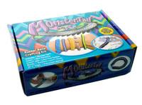 DIY Bracelet Monstertail For loom bands diy bracelet wholesale 1 loom red dot 1 hook 600 pcs rubbe 24clip