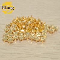 200pcs/lot 6mm Pyramid Studs golden Punk Rock DIY Rivets Nailheads Spike/wholesale/Free Shipping GZ005-6G