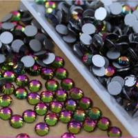 SS4(1.5mm) 1440pcs Glitter Non Hot Fix Crystal Flatback Rhinestones 3D Nail Art Charm Decoration Nail Care Tool DIY Rainbow 026