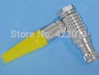 Metal 12 pin cable connector,cross lemo elbow plug:FHG.2B.312(China (Mainland))