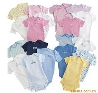 Carter Romper cotton short-sleeved triangle Baby jumpsuit 3-24month can pick code 5pcs/lot  Random color/not can choose color
