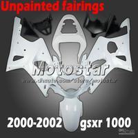 Wholesale - Unpainted for 2000 2001 2002 SUZUKI GSXR 1000 fairings K2 GSXR1000 00 01 02 GSX-R1000 fairing kits