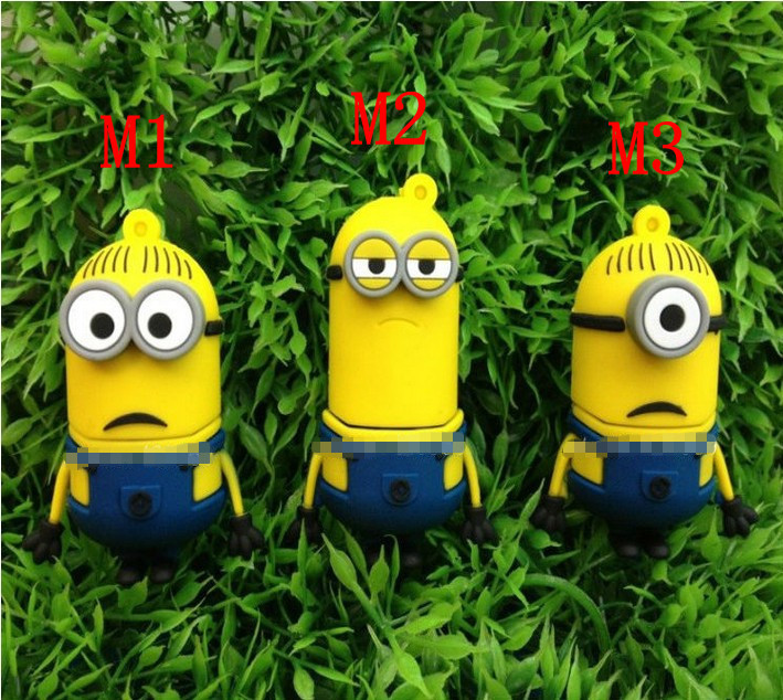 Ac100 spielzeug Schergen Despicable Me 2 cartoon modell usb 2.0 memory-flash-karte usb-sticks scheibe kleben 1gb 4gb 8gb 16gb 32gb