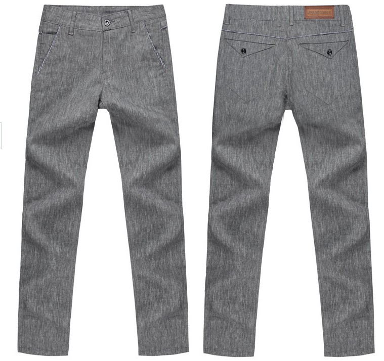 Mens Casual Linen Trousers Korean Men's Casual Linen
