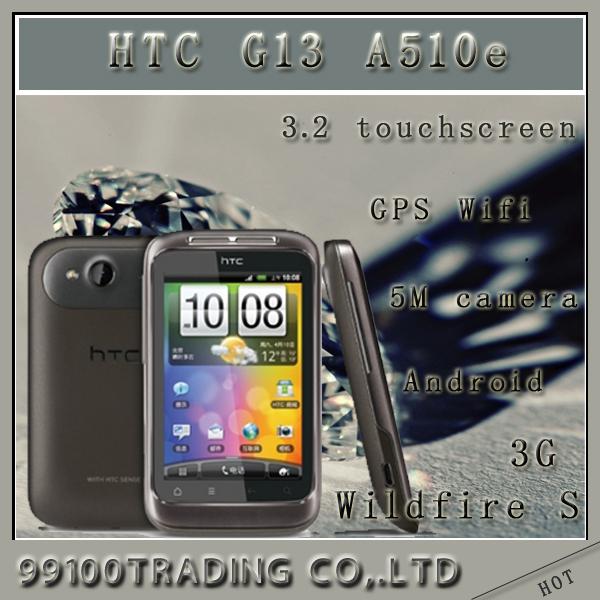 HTC Wildfire S A510e original HTC G13 Unlocked mobile phone android 3G WIFI GPS 3.2inch 5 MP singaporepost free freeship(China (Mainland))